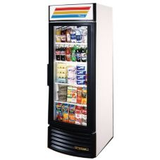 True® Glass Swing Door Radius Front Refrigerator, 23 Cubic Ft