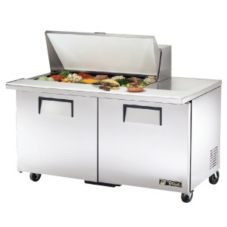 True TSSU-60-18M-B S/S 15.5 Cu Ft 18-Pan Top Sandwich / Salad Unit
