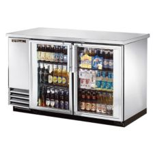True® TBB-2G-S-LD 2-Glass Door Back Bar Cooler For (88) 6-Packs
