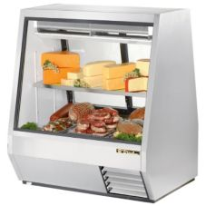 True TDBD-48-2 2-Sliding Door 1-Full Shelf 28 Cu Ft Deli Case