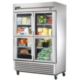 True® TS-49G-4  Reach-In 4-Half Glass Door 49 Cu Ft Refrigerator