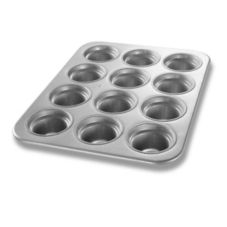 Chicago Metallic Glazed Aluminum Large-Crown 12 Cup Muffin Pan