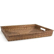 "Front Of The House® BPT019BRW22 19"" Brown Rattan Tray"
