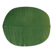 "FOH® XPM021GRV82 18"" x 16"" Banana Leaf Placemat"