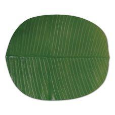 "FOH® XPM021GRV82 18"" x 16"" Banana Leaf Placemat"