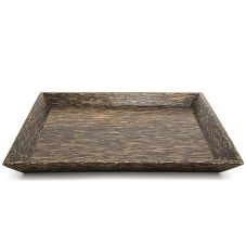 "FOH® DOS011PWW12 Sampler 12"" Palm Wood Plate - 6 / CS"
