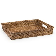 "Front Of The House® Brown 14-1/2"" Rectangular Rattan Tray"