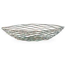 "FOH® BBK044PTI21 Wireware 20"" Patina Crescent Basket - 4 / CS"