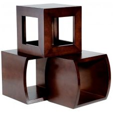 Buffet Euro Three Piece Wood Cube Set