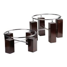 Buffet Euro Two Piece Round Wood and Steel Riser Set