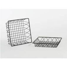 "Buffet Euro 11"" Black Square Wire Basket"