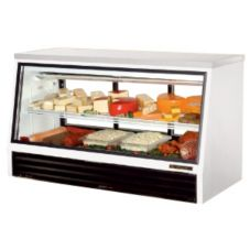 True TSID-72-3-L 2-Sliding Door 1-Shelf Low-Height 25 Cu Ft Deli Case