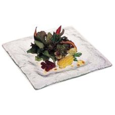 Square Glass Platter, Ocean Clear Glass