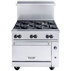 Vulcan Hart 36C-6B Endurance Natural Gas Restaurant Range w/ 6 Burners