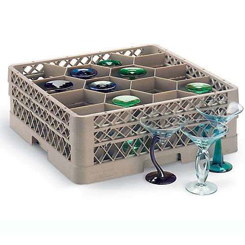 12 Compartment Glass Rack