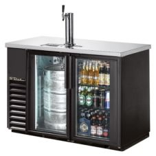 True® TDB-24-48G-LD Glass Door Back Bar Direct Draw Beer Dispenser
