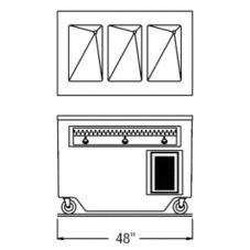 "Randell® RANFG HTD-3 48"" Enclosed Cabinet Base Hot Food Table"