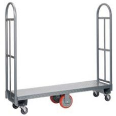 "Win-Holt® 300-48D/PU HD Steel 48"" Single Platform U-Boat Cart"