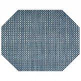 FOH® XPM078DBV83 Indigo Basketweave Octagon Placemat - 12 / CS