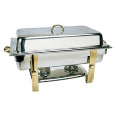 Update International DC-6N 8 Qt. Gold Accented Oblong Chafer