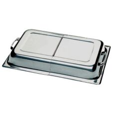 Update International CC-1/HDC Hinged Dome Cover for CC-5P Chafer