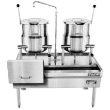 Vulcan Hart VKT40/66 Direct Steam Kettle and Stand w/ (2) VDC6 Kettles