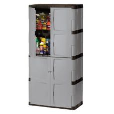 Rubbermaid Mica / Charcoal 4-Shelf 27 cu ft Full Double Door Cabinet