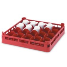 Vollrath® 5267733 Red Full Size Medium 20-Compartment Cup Rack