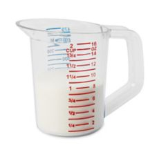 Rubbermaid® FG321500CLR Bouncer® Plastic 1 pt Measuring Cup