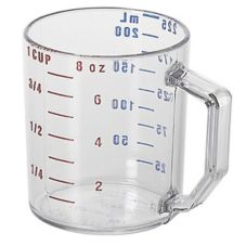 Cambro® 25MCCW135 Clear Camwear® 1 cup Dry Measuring Cup