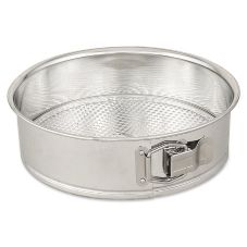 "Browne Foodservice 8 8"" Polished Tin Springform Cake Pan"