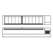 "Randell® 99"" Refrigerated Countertop Condiment Rail"