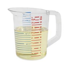 Rubbermaid® FG321600CLR Bouncer® Plastic 1 Qt Measuring Cup