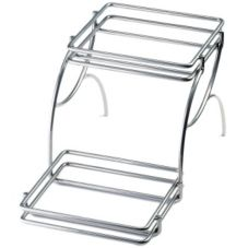 Cal-Mil 476-6 Silver Inline 2-Tier Wire Riser Frame for 475-6 Housing