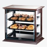 Cal-Mil® 284-S-52 Dark Wooden Frame 3-Tray Self-Serve Display Case
