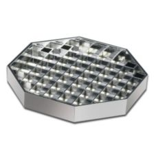 "Cal-Mil® 6"" x 6"" Chrome Octagonal Pitcher Drip Tray"