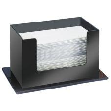 "Cal-Mil 952 Black 10"" x 5.5"" x 6"" Paper Towel Holder"