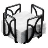 "Cal-Mil 1243 Black 5"" Napkin Holder"