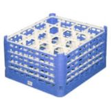 Vollrath® 5273277 Royal Blue XXX-Tall 16-Compartment Glass Rack
