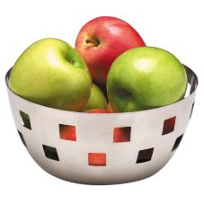American Metalcraft SB1 8&quot Round Checkered Cutout S/S Bowl