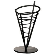 "American Metalcraft Wrought Iron 9-1/2"" Conical Basket"