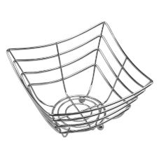 American Metalcraft SCB480 Space-Time Continuum Sq. Web Chrome Basket