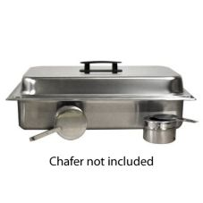 American Metalcraft Chafer Kit w/ Pans, Lid, and Fuel Holders for SCF2