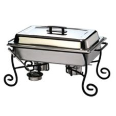 American Metalcraft CF1 Ornate Wrought Iron Chafer Frame with S/S Cup