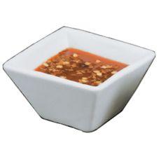 American Metalcraft CSC15 Square White Porcelain 1.5 Oz Cup - Dozen