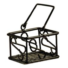 American Metalcraft Scroll Pattern Wrought Iron Sugar Packet Basket