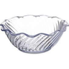 Carlisle® 453307 13 Oz. Clear Tulip Bowl - 24 / CS