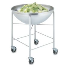 S/S Mobile Bowl Stand w/ 80 Qt S/S Round Bottom Mixing Bowl, 30x32x32