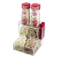 "Cal-Mil 788 Clear 9"" x 9"" Counter Condiment Coffee Holder"