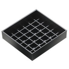 "Cal-Mil® 4"" x 4"" Black Spigot Drop Tray"